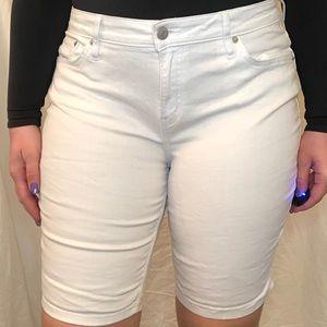 White Calvin Klein Bermuda shorts